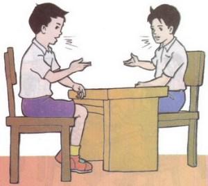 Ilustrasi bentuk komunikasi manusia
